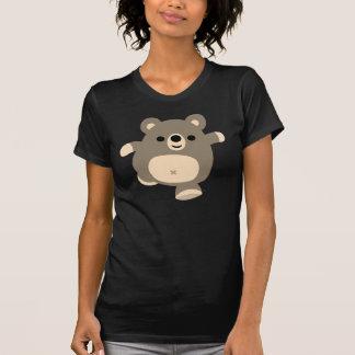 Camiseta corriente linda de las mujeres del oso polera