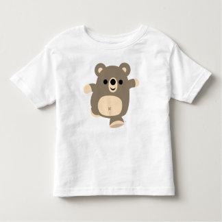 Camiseta corriente linda de los niños del oso del remera