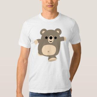 Camiseta corriente linda del oso del dibujo polera