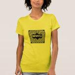 Camiseta corta de las señoras de la manga de MWG