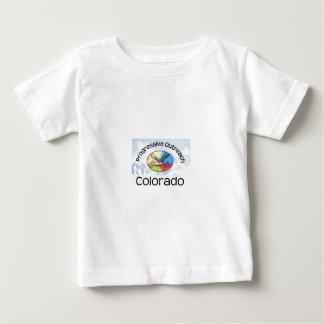 Camiseta corta del bebé de la manga, logotipo de playera