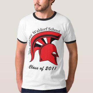 Camiseta corta para hombre del campanero de la remera