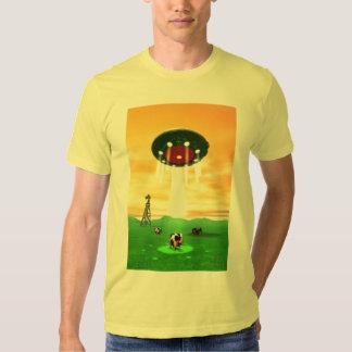 Camiseta cósmica de la abducción de la vaca remera
