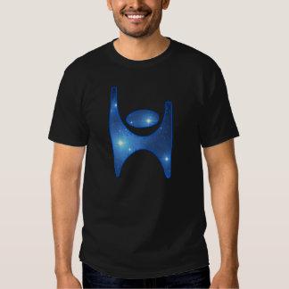 Camiseta cósmica del símbolo del humanista poleras