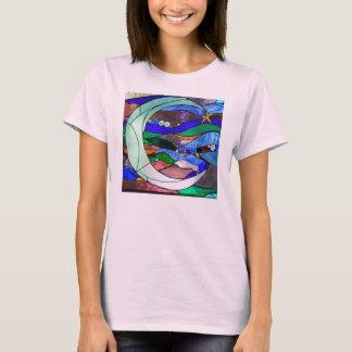 Camiseta creciente de la luna