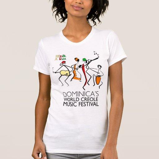 Camiseta criolla del festival de música del mundo