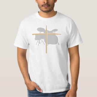 Camiseta cristiana de la cruz del palillo del