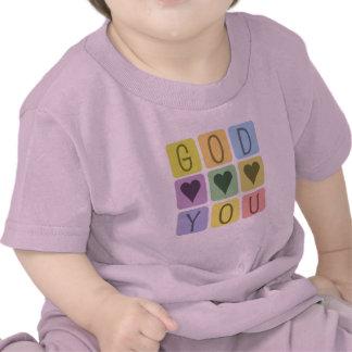 Camiseta cristiana del bebé: Corazones de dios