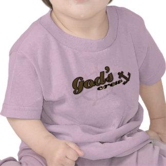 Camiseta cristiana del bebé - el equipo de dios