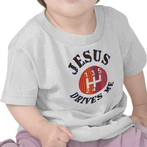 Camiseta cristiana del bebé - Jesús me conduce