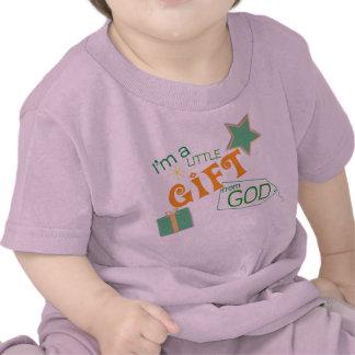 Camiseta cristiana del bebé - poco regalo de dios