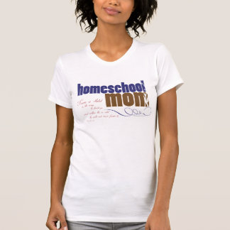 Camiseta cristiana del homeschool - mamá de