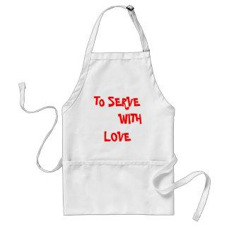 Camiseta cristiana - servir con amor delantal