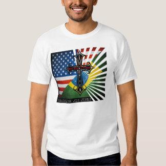 Camiseta cruzada de las banderas de BJJ Fuzion Remera