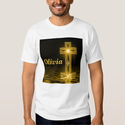 Camiseta cruzada de oro polera