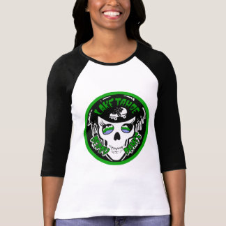 Camiseta cuarta de la manga de las mujeres de TDD Playera