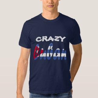 Camiseta cubana loca de la bandera poleras
