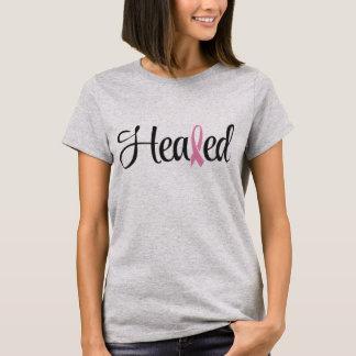 Camiseta curada de la cinta del rosa del cáncer de
