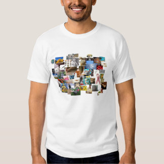 Camiseta curativa terapéutica del collage playera