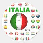 Camiseta d7 de Italia Pegatinas Redondas