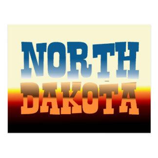 CAMISETA Dakota del Norte Tarjetas Postales