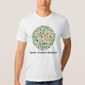 Camiseta daltónica del equipo remera