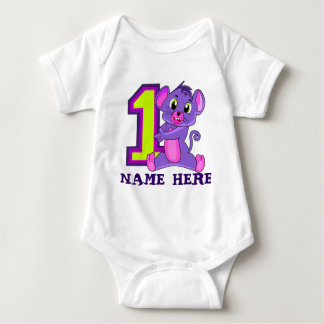 CAMISETA de 1 año, CAMISETA del bebé de 12 meses,