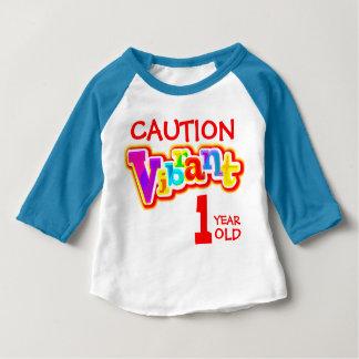 Camiseta de 1 año vibrante del niño de la remera