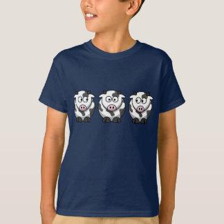 Camiseta de 3 niños de las vacas