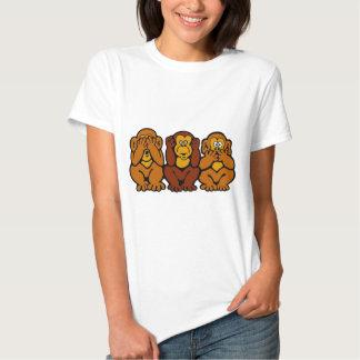 Camiseta de 3 pequeña monos playeras