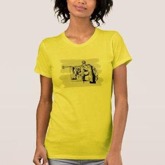 Camiseta de Abe de los diseños de LaCrosse