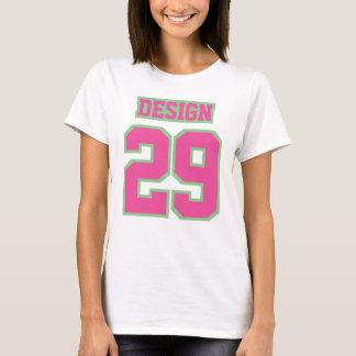 Camiseta de algodón básica para mujer VERDE ROSADA