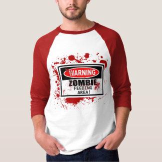 Camiseta de alimentación del área del zombi playeras