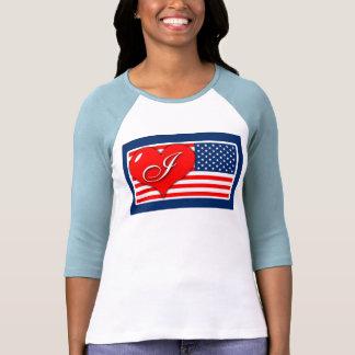 """Camiseta de América del patriotismo """"amo"""