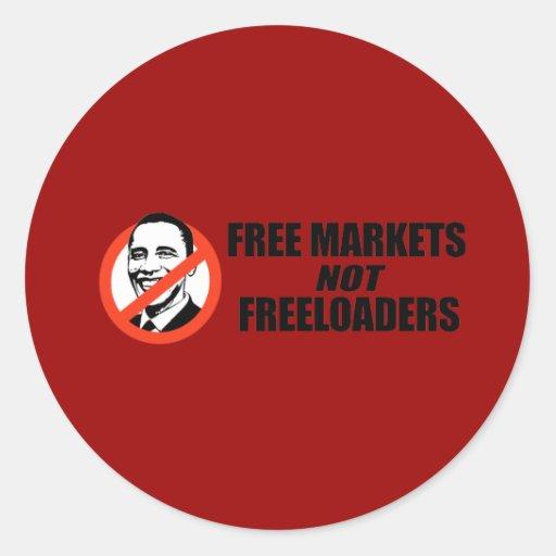 Camiseta de Anti-Obama - mercados libres Pegatina Redonda
