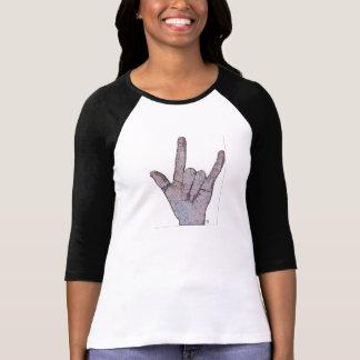 """Camiseta de B&W con, """"te amo"""" muestra Camisas"""