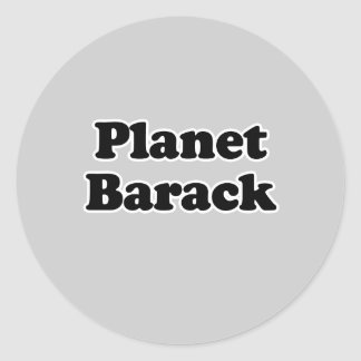 Camiseta de Barack del planeta Pegatina Redonda