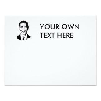 "Camiseta de Barack Obama Invitación 4.25"" X 5.5"""
