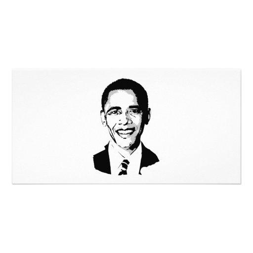 Camiseta de Barack Obama Tarjetas Fotográficas Personalizadas