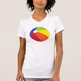 Camiseta de Beachball del arco iris de la pelota