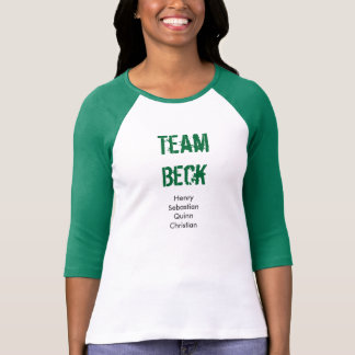Camiseta de Beck del equipo, mangas verdes Polera