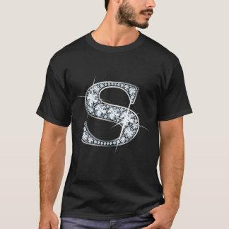 """Camiseta de Bling del diamante de """"S"""""""
