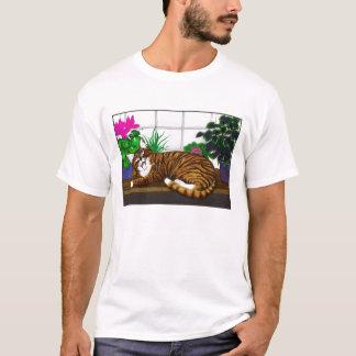 Camiseta de bostezo del gato