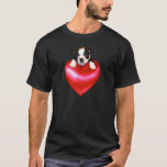 Camiseta de Boston Terrier del amor