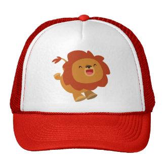 Camiseta de brinco linda del león del dibujo anima gorras