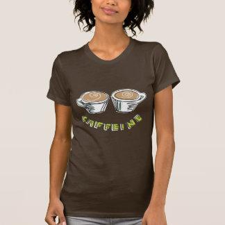 Camiseta de Brown de las mujeres del cafeína