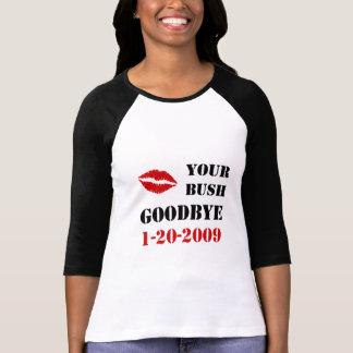 Camiseta de Bush del beso de la inauguración de Playera