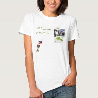 Camiseta de Cajun, Embrassez-moi, suis Ca del je… Remeras