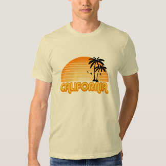 Camiseta de California del vintage Poleras