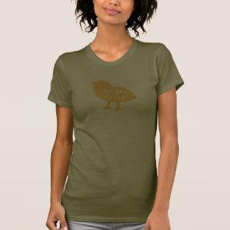 Camiseta de Camo del polluelo del vegano (amarillo